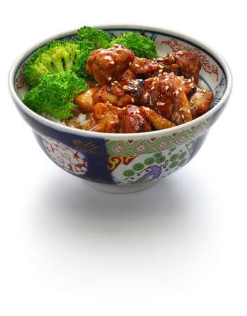 teriyaki chicken rice bowl, japanese food Stock Photo