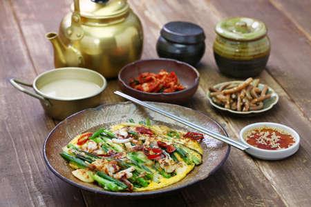 pajeon, korean scallion pancake Stock Photo