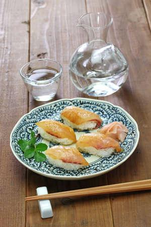 sushi, shima zushi, cold sake, japanese local food