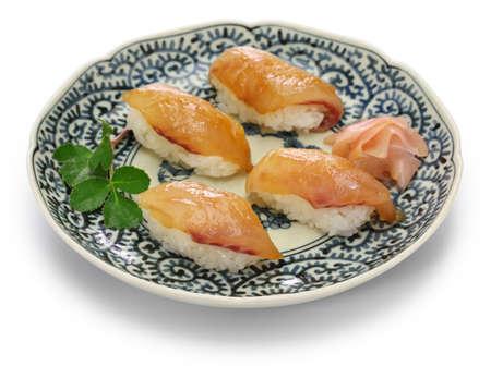 sushi, shima zushi, japanese local food isolated on white background Stock Photo