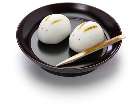 Rabbit manju, a japanese confection for moon viewing event