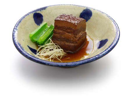 braised pork belly, dongpo pork, okinawa rafute 写真素材