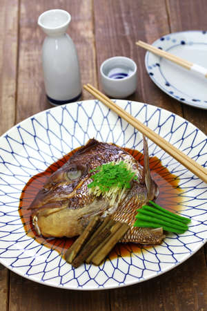 Simmered sea bream head