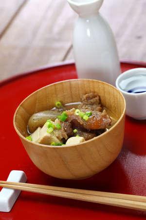 Gyusuji Nikomi (beef tendon stewed), Japanese food Stock Photo