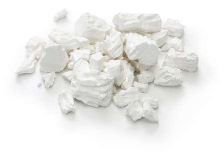 Kuzuko, Japanese cuisine ingredient, kudzu root powder, Chinese herbal medicine isolated on white