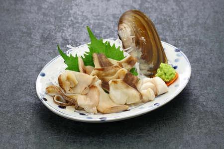 Pacific Razor clam sashimi, Japanese cuisine