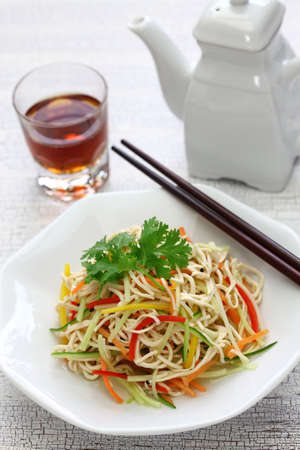 Tofu Noodle salad, Chinese cold dish Archivio Fotografico