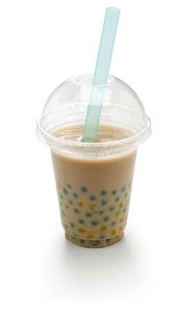 homemade tapioca drink, milk tea