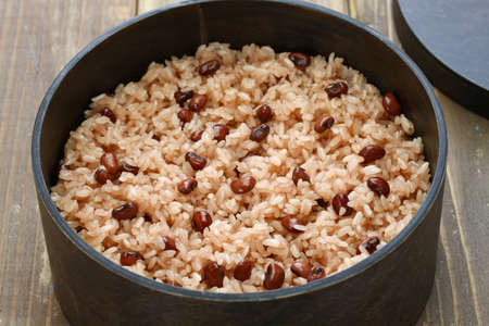 Sekihan, steamed sticky rice with red beans, Japanese food