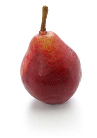 red pear, star crimson isolated on white background