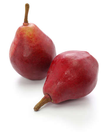 red pears, star crimson isolated on white background