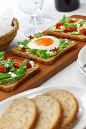 avocado toast open sandwich variety