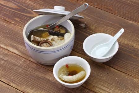 bamboo mushroom soup, chinese yunnan cuisine