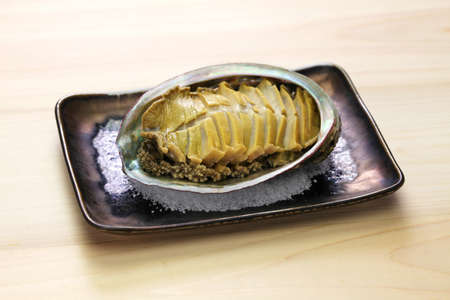 Steamed abalone with sake