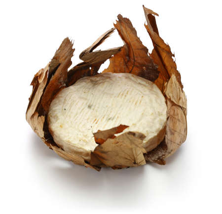French goat cheese is wrapped in leave chestnuts