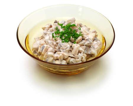 sienisalaatti, finnish mushroom salad isolated Stock fotó