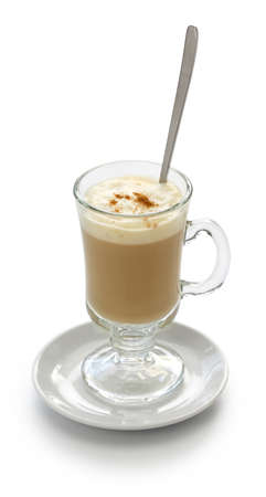 galao, portuguese milk coffee drink