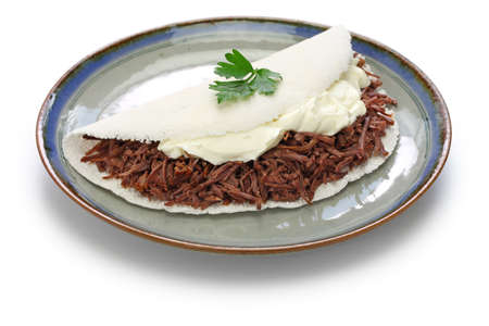 tapioca crepe , carne seca, brasilan food