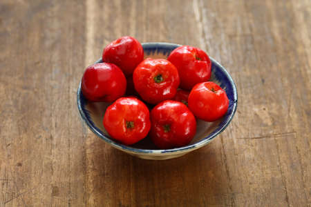 acerola fruit, barbados cherry isolated