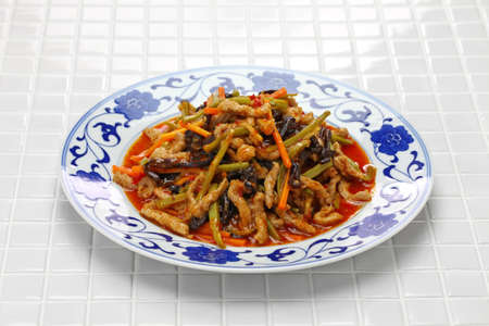 Yu xiang rous si, sichuan shredded pork, chinese cuisine