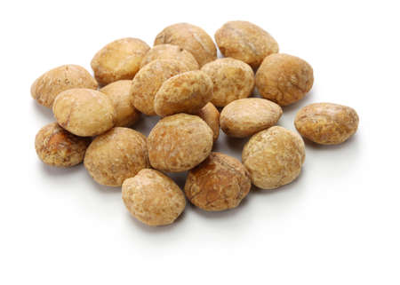 sacha inchi, inca nuts, inca peanuts isolated on white background