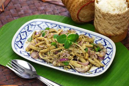 sup no mai, spicy bamboo shoot salad, thai cuisine