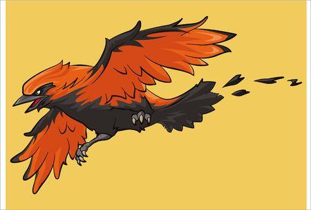flying wilga beast Illustration