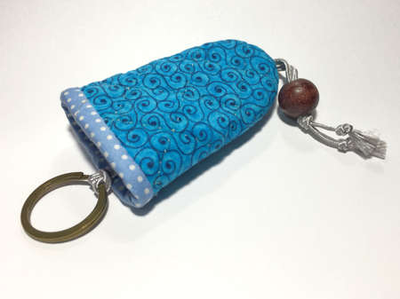 traditional textured: Key ring hand made