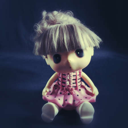 illustration: Girl doll sitting