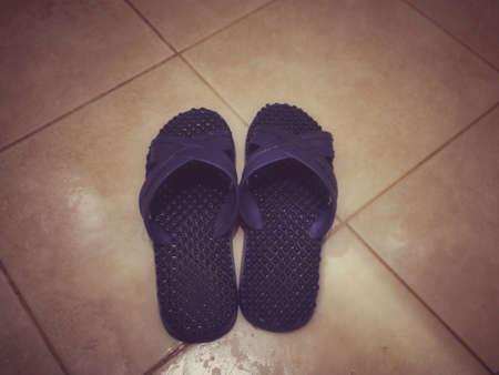 apparel: Bathroom shoes