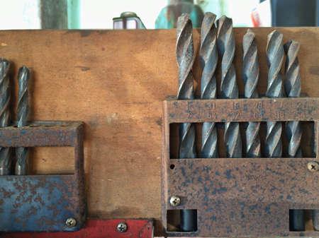 metallic: Drill bit