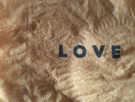 creative: Love word on paper