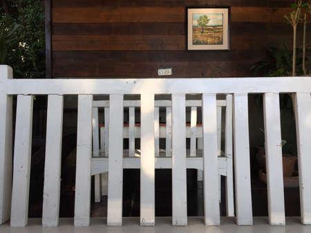 white: White wood chair Stock Photo