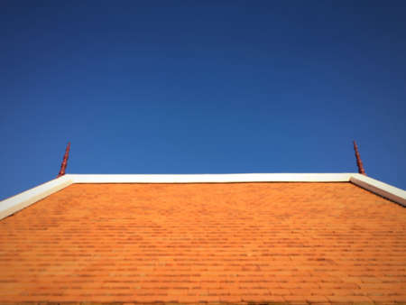 isolated: Roof isolated nice clear sky