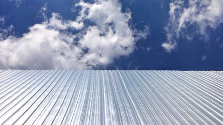 construction: Galvanized iron isolate on sky