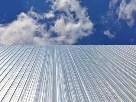 metallic: Galvanized iron isolate on sky