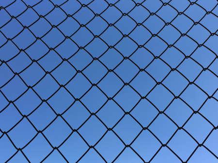 illustration: Iron net isolated on sky