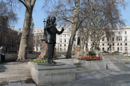 mandela: Nelson Mandela in parliment square London Editorial