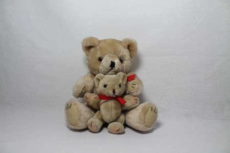 reb: Teddy con su amigo poco, Foto de archivo