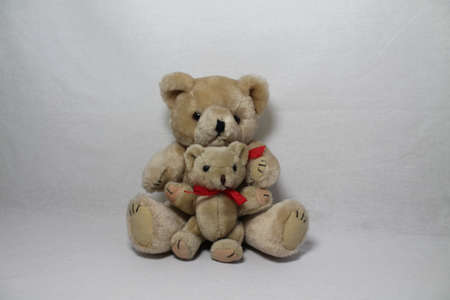 reb: Teddy with little friend, Stock Photo