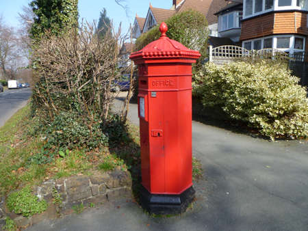 Red post box, photo