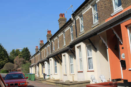 Typical British terrace Houses Stock Photo - 13204365