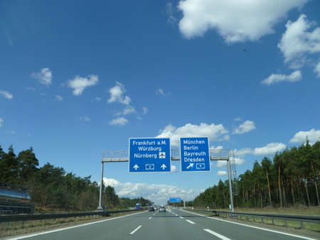 autobahn: Autobahn Road Sign Germany