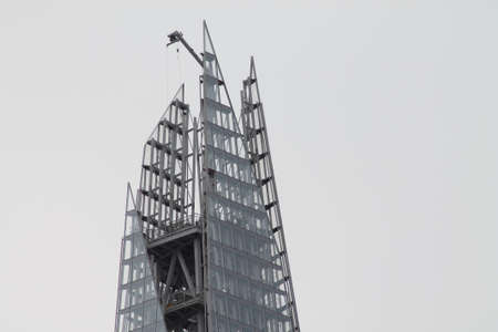 shard: Unfinished Shard in the City of London, Stock Photo