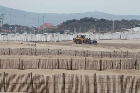 calais: Beach cleaning Calais France