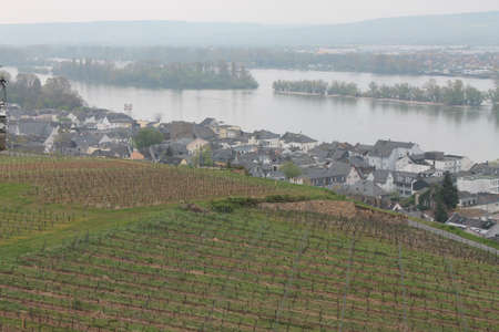 sightseers: View of the mighty River Rhine