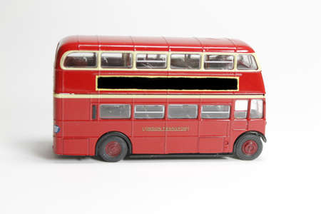 double decker: Side view of a London Bus  Stock Photo