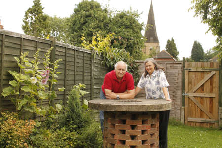 Senior couple in the garden  photo