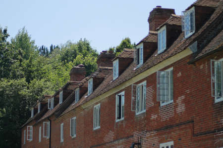 Old terraced houses, photo
