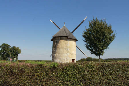 Old Post Windmill in France Stock Photo - 15281804